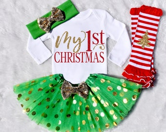My 1st Christmas. My 1st Christmas Outfit Girl. My First Christmas. My 1st Christmas Girl. Baby Girl Christmas. Long Sleeve. S11 XMS (GREEN)