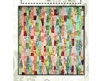 "Quilt Pattern ""Hokey Pokey"" A Quilter's Dream Pieced Quilt Fat Quarter Friendly Project Crib Lap Twin Queen King Size Template"