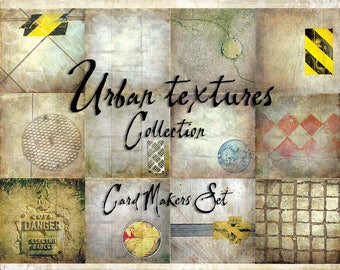 Digital Paper Pack Urban Textures Cardmakers Set downloadable printables