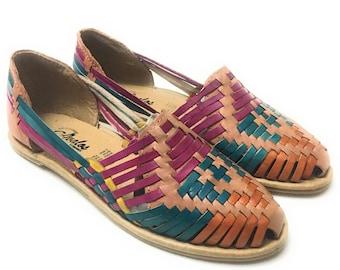 Original Mexican Huarache sandals . Women's leather sandals