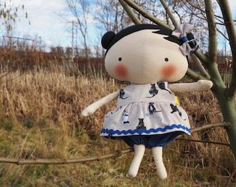 Greta Handmade Rag doll/Interior Doll/Textile Doll/Fabric Doll/ Tilda doll/Handmade Toy/Dolls/Home Decoration