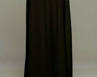 Black Saree Petticoat - Drawstring Pull-On Maxi-Skirt