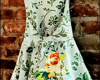 Girls wrap dress, vintage style, girls dress, special occasion dress, children's clothing
