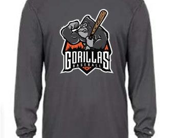 Badger Youth B-Core Long Sleeve Tee - Gorilla Baseball