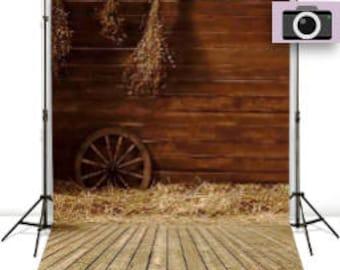 Wooden Barn Photography Backdrop