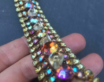 Vintage Pastel AB Rhinestone Bracelet