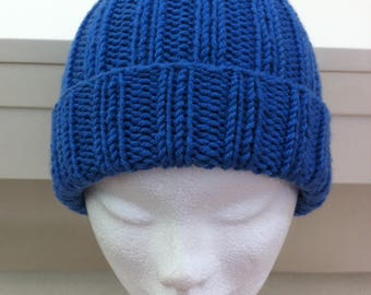 Denim Blue merino wool hat
