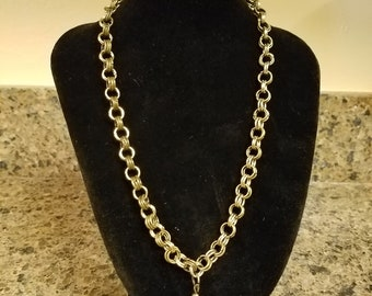 Chain Mail Necklace with Charm