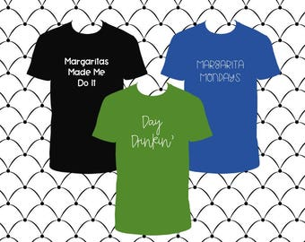 Margaritas & Day Drinkin Tees (3 designs)