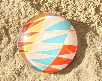 Glass cabochon 25 mm geometry collection