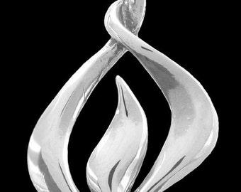 Flame Pendant / Necklace,  Uplifting Symbolic Jewelry