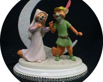 NEW from DISNEY Robin Hood & Maid Marian Wedding Cake Topper. Precious LOVE Figurine Groom Top Fox centerpiece figure
