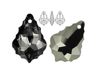 Swarovski Elements, 6090, Baroque, Crystal Silver Night, 16mm, 22mm, Swarovski Baroque, Baroque crystal, Black crystal, Multicolor crystal