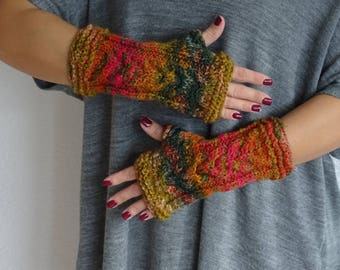 knit fingerless gloves, arm warmers, fingerless mitts, wrist warmers, hand warmers, knit gloves, knit mittens, gloves, ready to ship