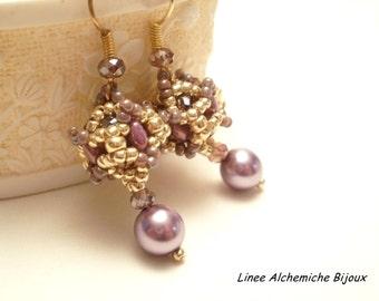 Tutorial beaded bead Alchemilla   Orecchini con beaded bead di superduo e cipollotti