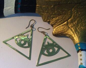 Tri Eye Earrings