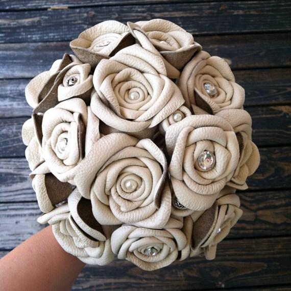 Bouquet Leather Flower Bridal Bouquet