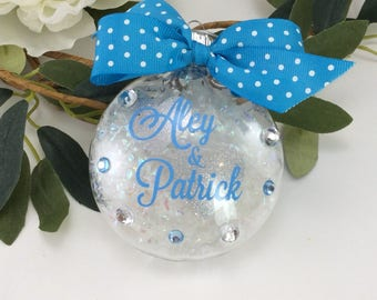 Couples Ornament, Personalized Ornament, personalized name, monogram