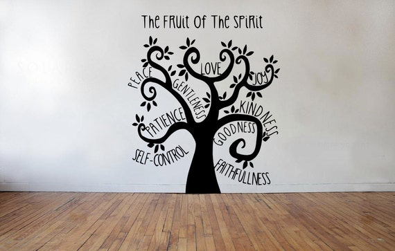 Fruit Of The Spirit Tree Wall Decal Galatians Quote Home