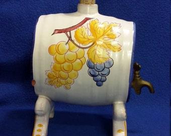 Faiencerie Porcelain Barrel Keg