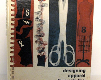 Vintage Sewing Book Designing Apparel Through Flat Pattern