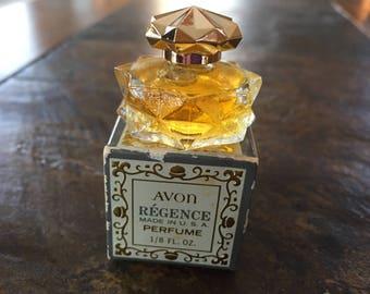 Avon Regence Perfume 1/8 ounce Full Glass Bottle w/Original Box