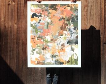 Fall Again II.  extra large wall art . giclee print