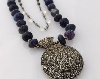 Blue Gypsy Labradorite Bohemian Moonstone Indigo Inspiration Necklace