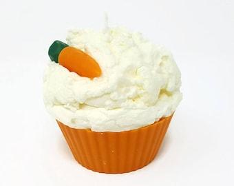 Jumbo Carrot Cupcake Candle