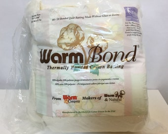 SALE, Queen Size - Warm Bond Thermally Bonded Cotton Batting