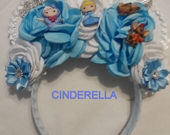 Cinderella Mickey Ears Headband Disneyland Disney World Princess