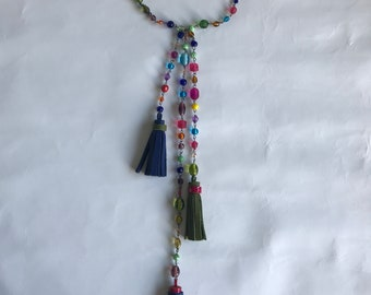 RAINBOW LEATHER TASSELS