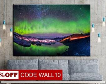 Northern Lights, Aurora Borealis, Aurora Borealis Art, Aurora wall art, Aurora Borealis canvas, Aurora Borealis art, Aurora Borealis picture