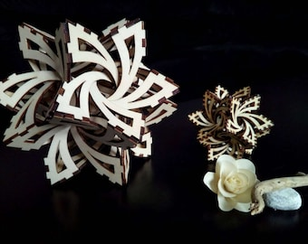 3d mathematical Model (Frabjous) in laser cut wood. Free shipping in Italy x areas not disadvantaged