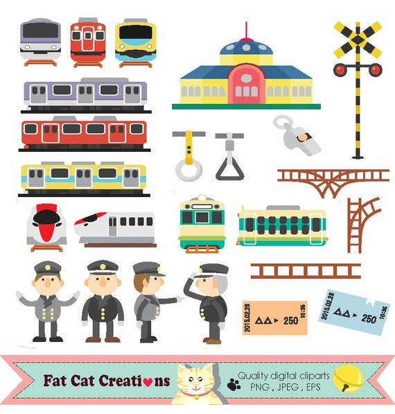 trains train station train ticket metro tube clip art rh etsy com train station clipart black and white train station clipart images
