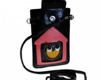 Real Leather Owl Pouch