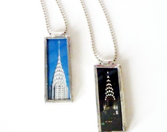 NYC Photo Necklace-Chrysler Building Pendant
