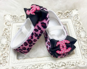 Pink Leopard Baby Girl Shoea