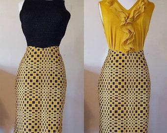 Wax pencil skirt