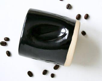Handmade Mug, Pottery Cup, Pottery Tumbler, Ceramic Mug, Ceramic Cup, Handmade Cup, Coffee Mug, Black Mug, Gift for Him, Housewarming Gift
