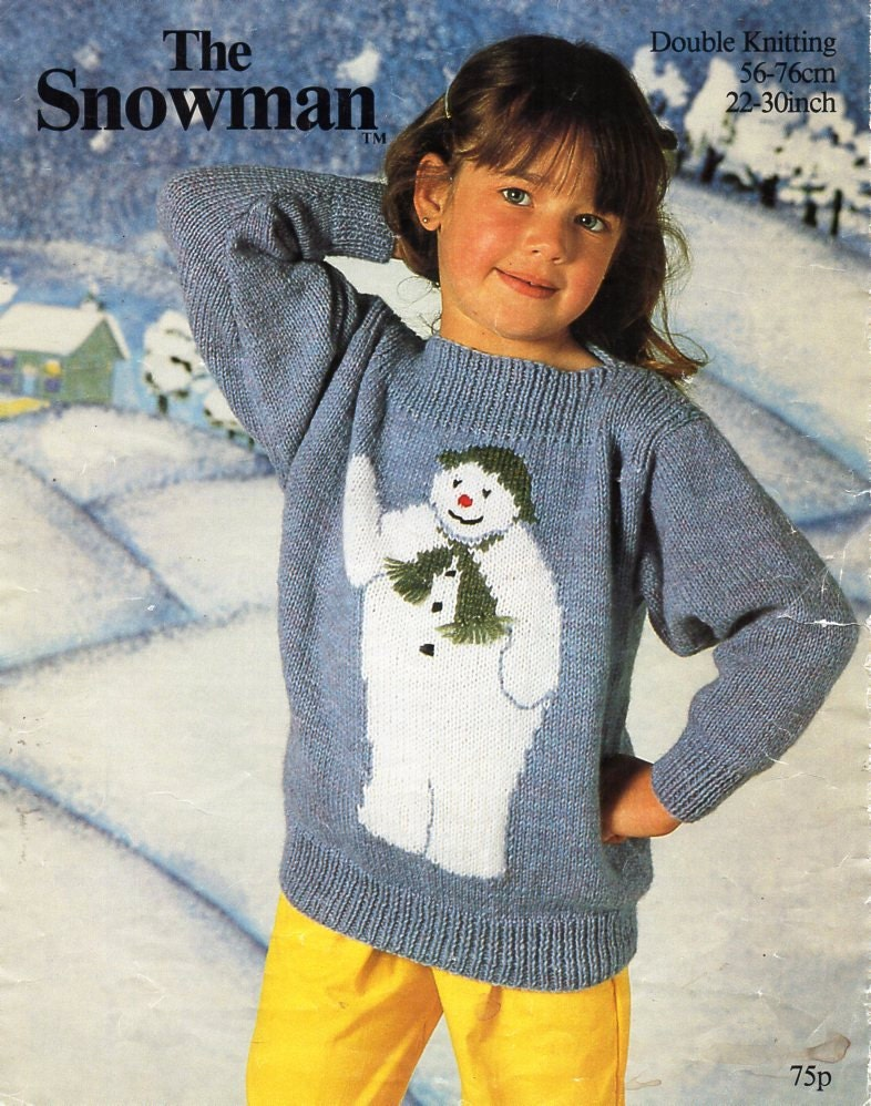Baby Childs Childrens Christmas Jumper Knitting Pattern Pdf