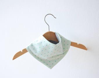 Scarf - Mint green stars