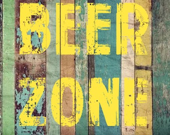 Beer Zone Metal Vintage Metal Sign 12x18