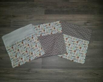 I Love Grandma Burp cloth set