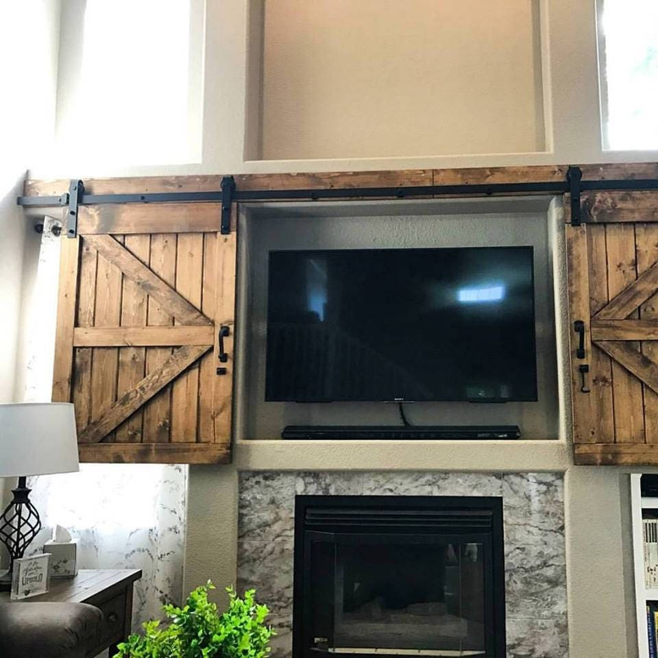 Genial TV Hide Barn Door Set   Rustic TV Barn Door   Sliding Window   Interior    Sliding TV Cover   Barn Door Cabinet   Farmhouse Door