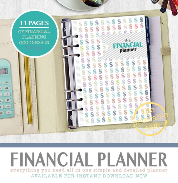 financial budget planner instant download monthly finance