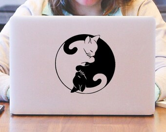 Yin Yang Cats Decal
