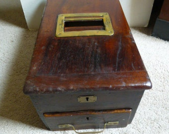 Funky Gledhill Cash Drawer - Till - Bank - Cash Register - circa 1900s - Gorgeous wood and brass fittings