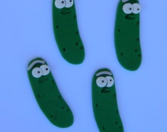 12 edible PICKLE RICK cake cupcake topper decoration birthday engagement valentine cookie rick and morty theme