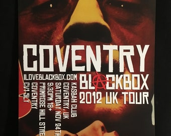 Blackbox Frankenstein UK 2012 Tour Poster Coventry Signed/Numbered